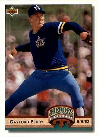 Amazoncom 1992 Upper Deck Heroes Highlights Baseball Card Hi6