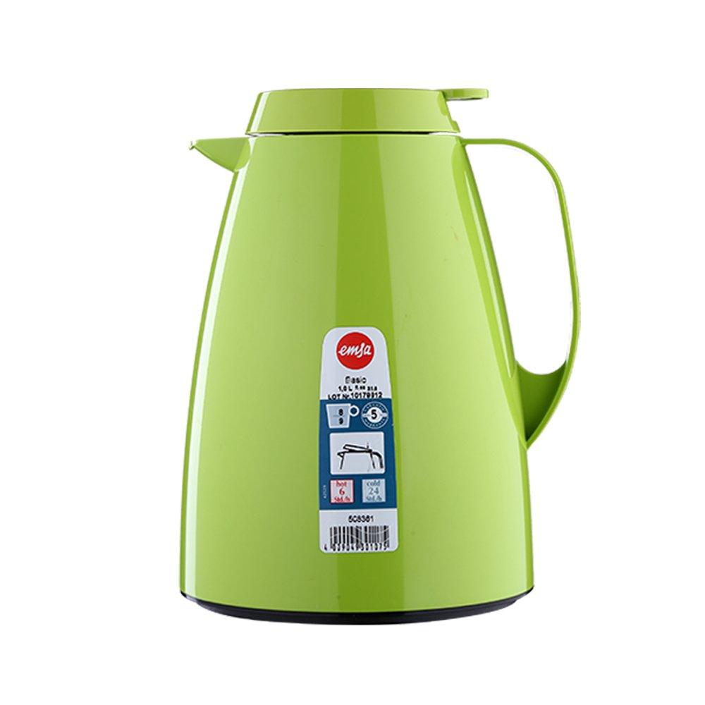 Emsa 508359 BASIC Pichet isotherme, fermeture Quick Tip, 100% hermétique, 1 L, orange