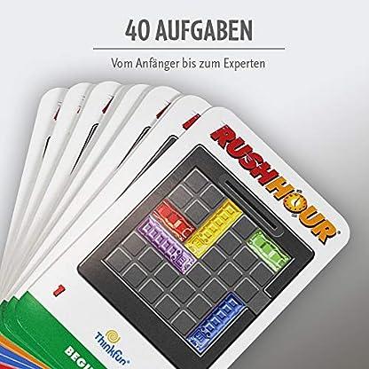 ThinkFun Rush Hour, Logik- und Strategiespiel, für Kinder und Erwachsene, Brettspiel ab 1 Spieler, ab 8 Jahren 5