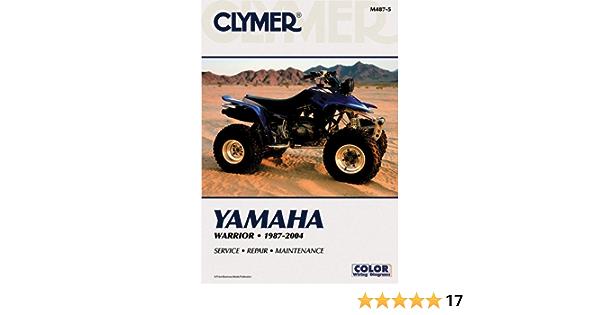 Yamaha Warrior YFM350X 1987-2004 ATV Clymer Motorcycle Repair ...