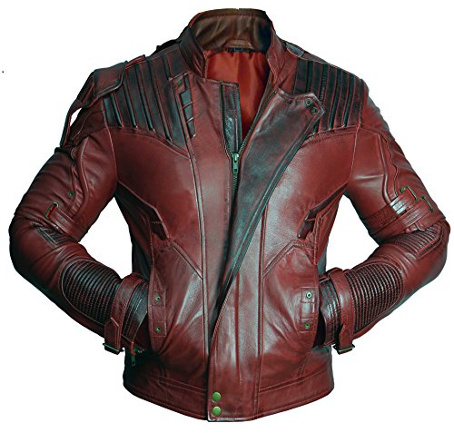 Premium Leather Garments Star Lord Guardians Of Galaxy 2 Chris Pratt Real Leather Jacket (L - Suitable For Chest Size 40