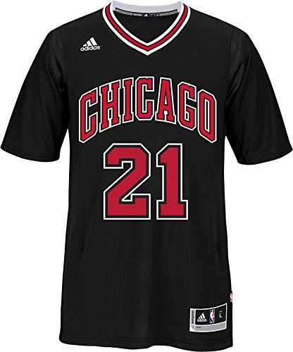 Chicago Bulls Jimmy Butler #21 Swingman Jersey NBA Adidas Official Black Stitched ()