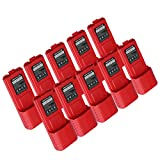 NKTECH BL-5L 7.4V 3800mAh Extended Li-ion Battery For Baofeng Pofung UV-5R V2 UV-5RTP BF-F8HP F8+ F9 TYT TH-F8 Two Way Radio Walkie Talkie Red Warranty Pack of 13