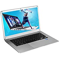 Hanbaili 14 Inch Windows 10 HD Ultra-thin Laptop Business Notebook Student Netbook Silver Intel Atom X5 Z8350 Quad Core Computer 2GB RAM/32GB ROM USB3.0 HDMI