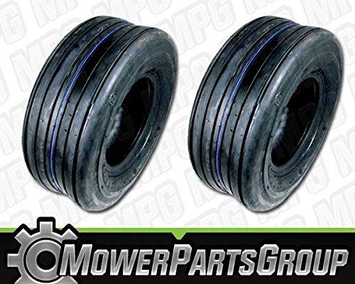 MowerPartsGroup D321 (2) Kenda Utility Ribbed Tubeless Tires 4 Ply 13x5.00x6 - Ribbed Tires