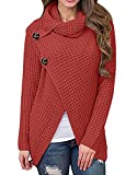 Inorin Womens Swearers Oversized Fall Pullover Cowl Neck Chunky Knit Wrap Sweater Jumper