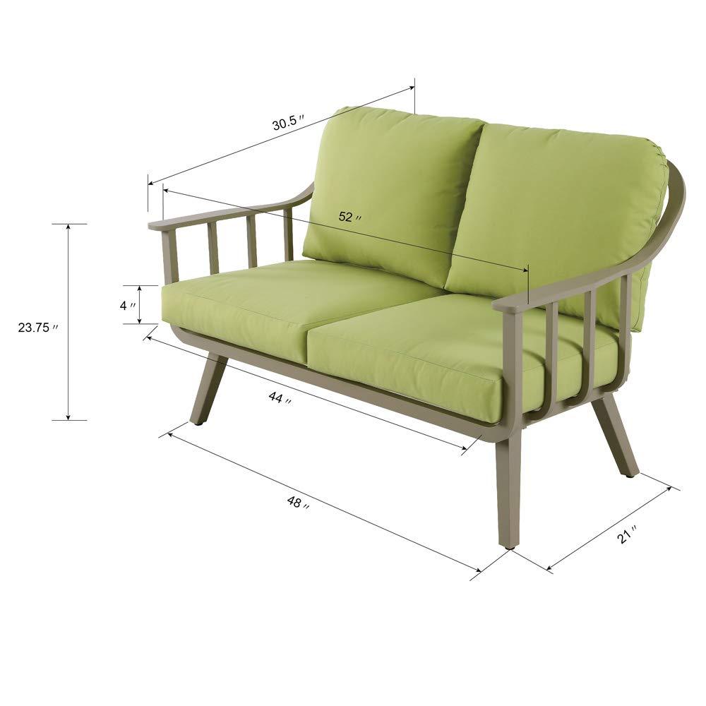 Amazon.com: Juego de muebles de patio de 4 piezas, de ...