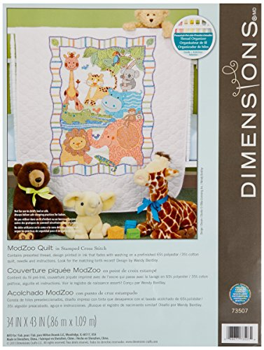 Dimensions Needlecrafts Stamped Cross Stitch, ModZoo Quilt -  73507