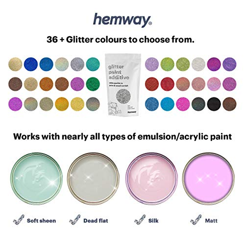 Hemway Silver Glitter Paint Additive 100g 3 5oz For