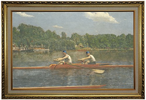 Historic Art Gallery The Biglin Brothers Racing 1872 by Thomas Eakins Framed Canvas Print, 19