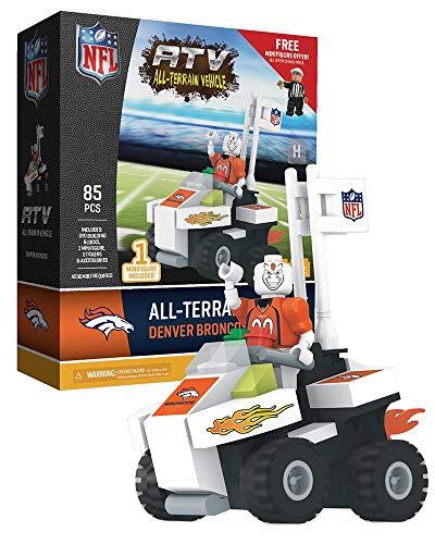 OYO Sports - NFL Denver Broncos NFL 4 Wheel ATV with Mascot - Nfl Denver Broncos Room Locker