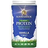 Sunwarrior - Classic Protein, Raw Wholegrain Brown Rice, Vanilla, 47 Servings (2.2 lbs)