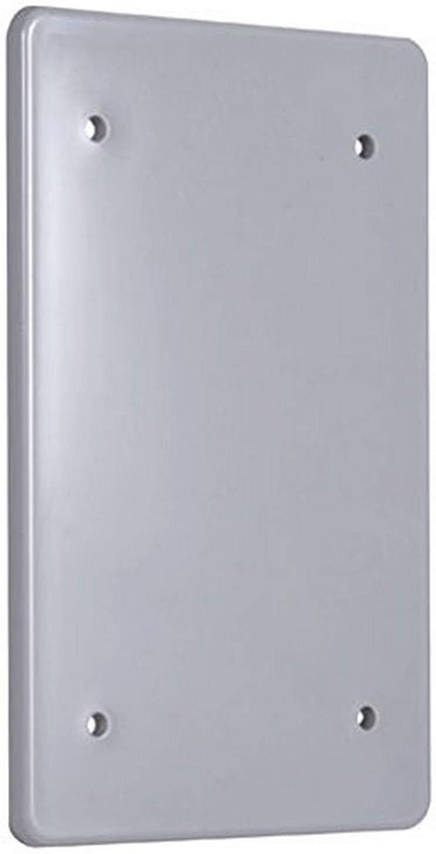 12 HUBBELL PBC100GY WEATHERPROOF NON-METALLIC BLANK COVERS 1-GANG GRAY