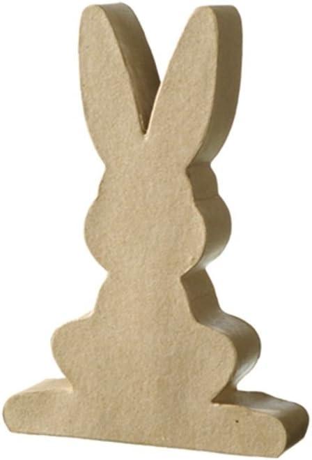 Papier Mache Shapes 11cm Paper Mache Flat Easter Bunny Rabbit Shape
