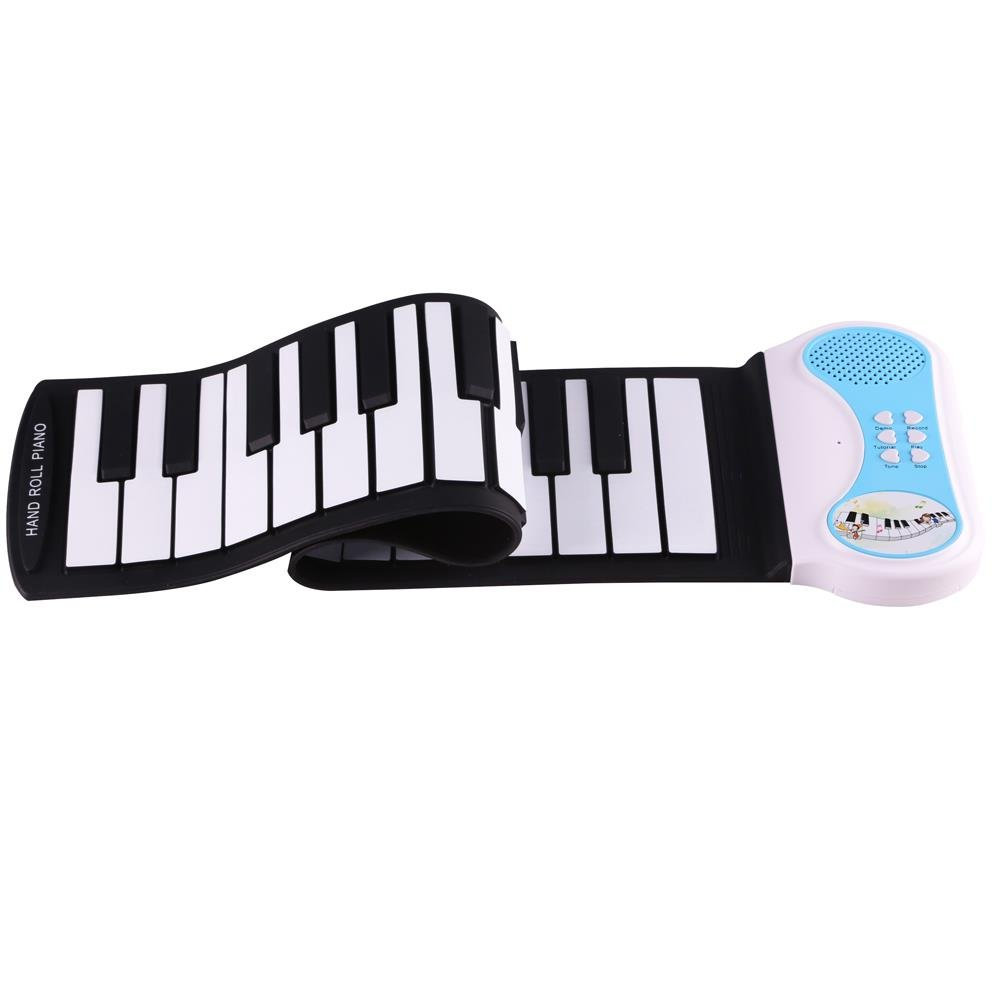 Lightahead Portable 37-Keys Mini Roll up Soft Silicone Flexible Electronic Digital Music Keyboard Piano with Built in Speaker