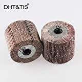 Maslin DHT&TIS 12010019mm Emery Cloth Mop wheel Striping Wheel P40 - P600 for Metal Polishing (choose the grit) - (Grit: 600grit)
