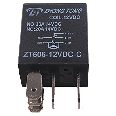 ESUPPORT Car Heavy Duty Relay Switch 12V 30A SPDT 5Pin Waterproof Electrical Automotive Pack of 5: Automotive