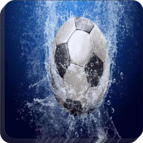 Rikki Knight Soccer Ball Splash Design Soft Square Beer Coasters (Set of 2), Multicolor by Rikki Knight