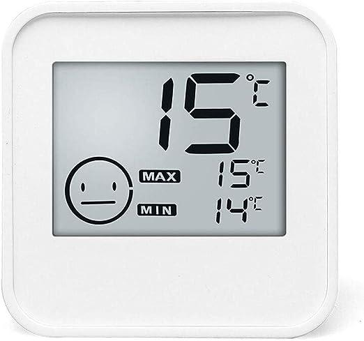 YWSZJ Sala de termómetro Digital termómetro higrómetro Interior con Humedad del Reloj del indicador de Nivel de Habitaciones Termómetro: Amazon.es: Hogar