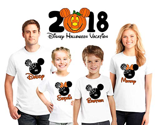Halloween Disney family matching custom shirts, Halloween Family vacation Disney shirts, Personalized matching Disney Shirts for Family, not so scary Halloween matching -