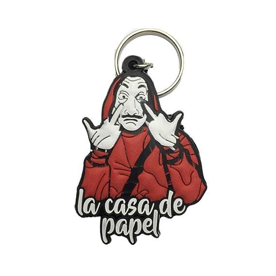 5pcs/lot Funny La Casa De Papel Keychain for Men Money Heist The House of Paper Dali Key Chains for Women Plastic