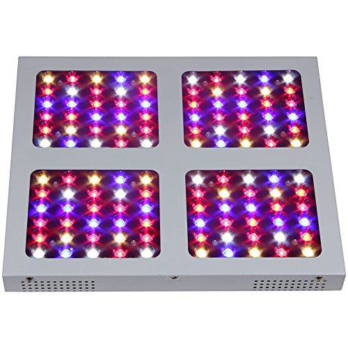 OceanRevive Reflector Design 400W LED Grow Light 3w/5w LEDs Panel Hydroponic Plant Veg Flowering Growing System