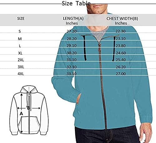 INTERESTPRINT Mens Lightweight Full Zip Hoodie Colorful Marble Texture