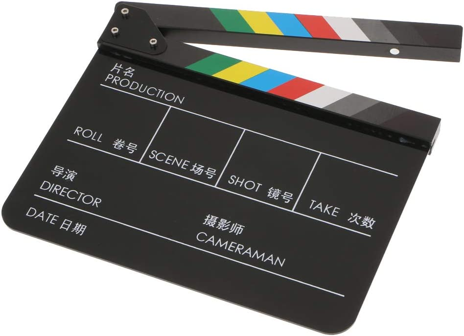 gazechimp Dry Erase Directors Film Movie Clapboard Cut Action Scene Clapper Board