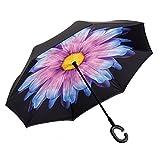 quad rifle rack - NEWBRELLAs Inverted Umbrellas Self Stand With C Shaped Handle Hands Free Reverse Umbrella