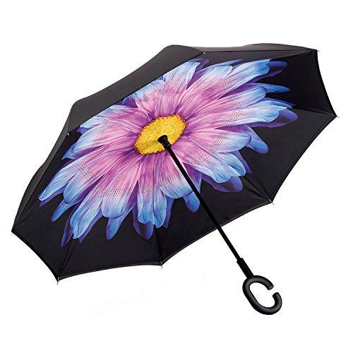 Wind Alexander Doll (NEWBRELLAs Inverted Umbrellas Self Stand With C Shaped Handle Hands Free Reverse Umbrella)