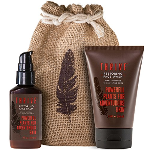 - Restoring Skincare Kit for Men With Sensitive Skin – 2 Piece Grooming Gift Set with Unscented Natural Face Wash & Unscented Face Lotion – Gift for Men Made with Organic & Unique Natural Ingredients