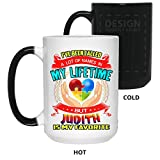 """The dimensions for the 15 oz are 3 3/8 across the top 4 3/4"""""""" high 11"""""""" around. Each one weighs about 15 oz. Mugs is made from the highest grade ceramic and the designs are printed and sublimated in the United States. Dishwasher and microwave safe"""