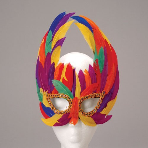 Rainbow Feather Mask (Rainbow Mask)