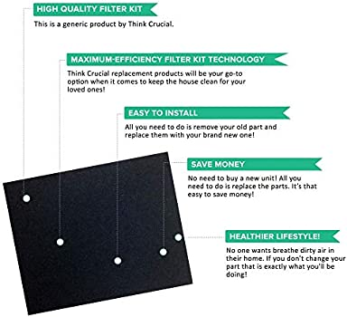 Think Crucial Replacement Filter Compatible With Idylis Hepa Style A Air Purifier Filter Carbon Filter Part Iaf H 100a 302656 Filter Kit Fits Idylis Iap 10 100 Iap 10 150 Model Bulk 2 Pack