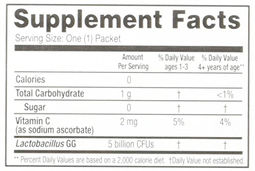 Culturelle Kids Packets Daily Probiotic Formula with Naturally Sourced Lactobacillus GG, 30 Count