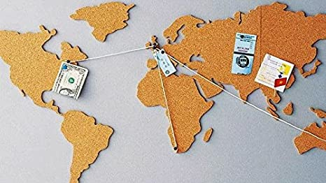 Juvale USA Map Cork Board - Wall-Mounted Hanging Bulletin Board ...