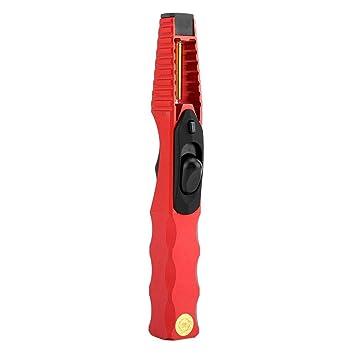 TOPINCN Encendedor electrónico A Prueba de Viento Gas Encendedor de Fuego Estufa de Barbacoa Estufa de Cocina para Viajes Camping Senderismo (Rojo): ...