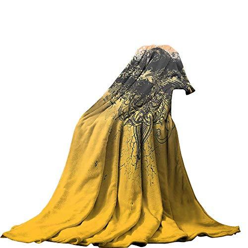 QINYAN-Home Plush Throw Blanket(90
