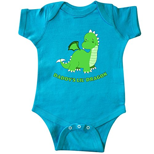 Dragon Infant Creeper (inktastic Daddy's LIL' Dragon Infant Creeper Newborn Turquoise)