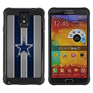 BullDog Case@ Dallas Cowboy Football Rugged Hybrid Armor Slim Protection Case Cover Shell For Note 3 Case ,N9000 Leather Case ,Leather for Note 3 ,Case for Note 3 ,Note 3 case