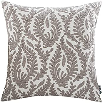 HWY 50 Grey Pillows Decorative Throw Pillows Covers For Couch Sofa 18 X 18  Inch, 1 Pcs Cotton Embroidered Throw Pillows Cases For Bed, European  Abstract ...