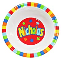 My Name Bowls Nicholas USA Personalized Bowl