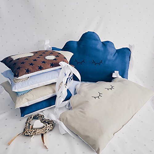 Baby crib bedding set for boys with baby crib bumpers by Tutti Handmade Studio