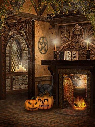 1,5x 2,1m clásico Castillo habitación Halloween fondos de estudio fotográfico Retro Antiguo muro de piedra Kids...