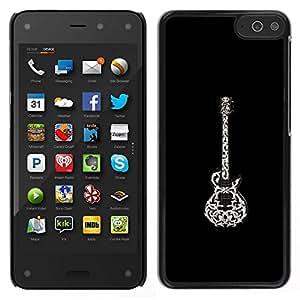 // PHONE CASE GIFT // Duro Estuche protector PC Cáscara Plástico Carcasa Funda Hard Protective Case for Amazon Fire Phone / Black White Rock Beautiful Art /