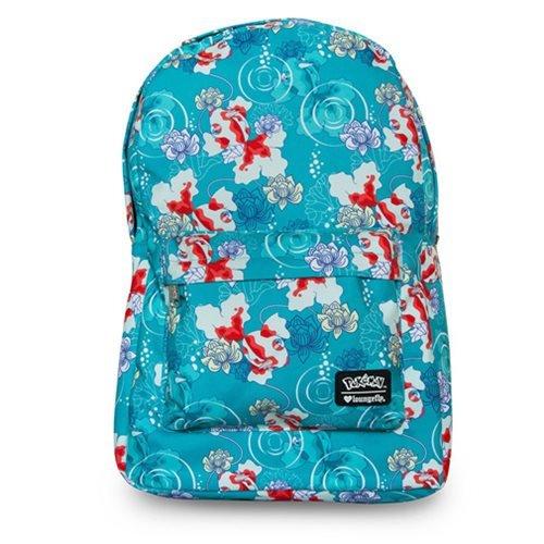 Pokemon Goldeen Lotus Flower Print Backpack -