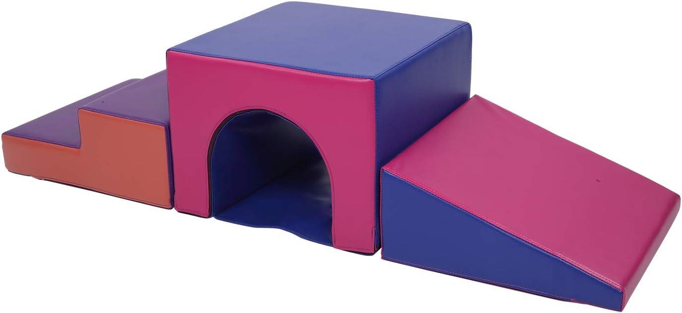 Polar Aurora 5PCS Climb and Crawl Activity Play Set Soft Foam Toddler Stairs and Ramp Climber Gym Toy