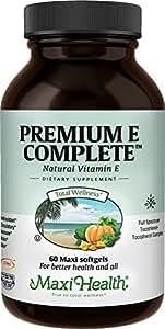 "Maxi Health Premium E Complete - Natural Vitamin E - with Lecithin - ""200 IU"" - 60 Capsules - Kosher"