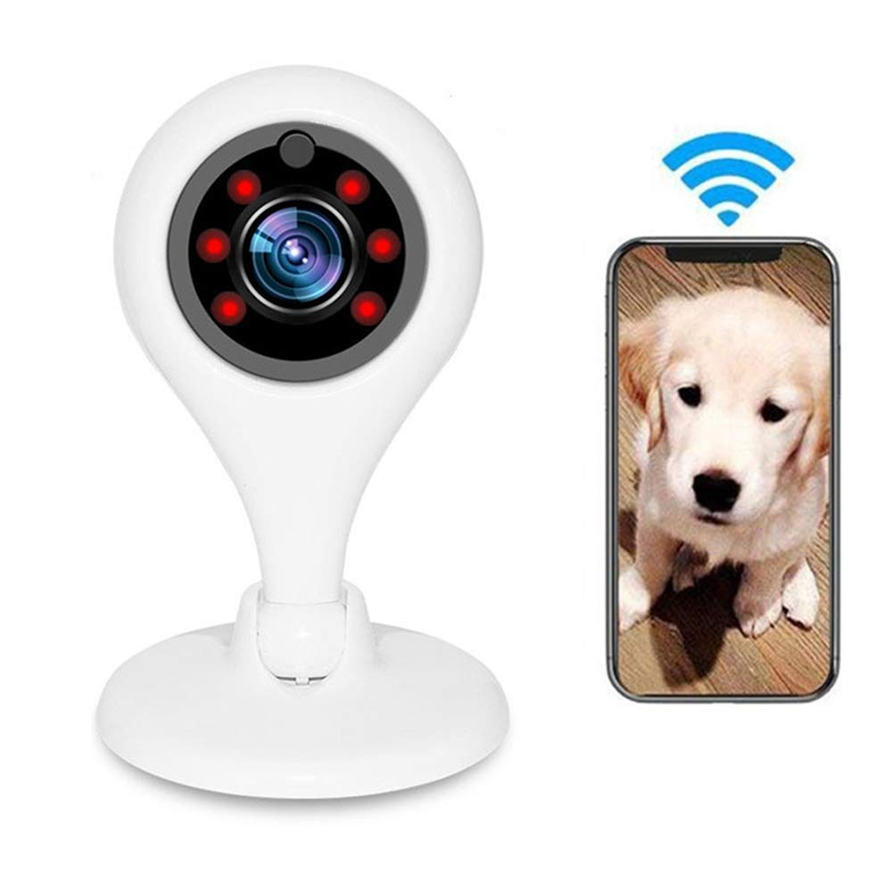 WiFi Cat Surveilance Pet Camera 1080P Hd 150° Wide Angle Dog Monitor Indoor Home Camera Two Way Audio Night Vision Motion Detection