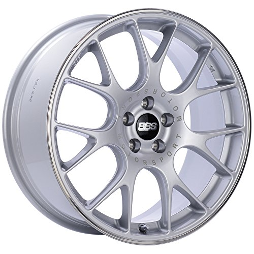 BBS CH-R Silver Wheel with Painted Finish and Polished Stainless Steel Rim (Auto Chr)